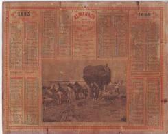 CALENDRIER  Almanach Des Postes 1895 Listes Des Foires & Marchés Du PUY DE DOME  2  Scans - Calendriers