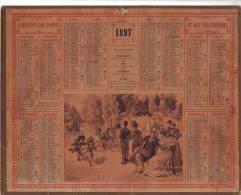 CALENDRIER  Almanach Des Postes 1897  Listes Des Foires & Marchés Du PUY DE DOME  2  Scans - Calendriers