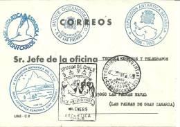 ANTARTIDA - ESPAÑA - BASE ANTARTICA ESPAÑOLA JUAN CARLOS I - SOBRE OFICIAL OFICINA LAS PALMAS NAVAL - Research Stations