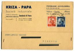 CARTOLINA PUBBLICITà COMMERCIALE KRIZA PAPA SANDONà DI PIAVE VENEZIA VIAGGIATA ANNO 1950 - Venezia