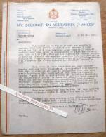 "N.V. Drukinkt-en Verffabriek ""'t Anker"" C. F. Lampe, Steenwijk 1947 - Pays-Bas"