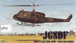 Télécarte Japon Hélicoptère * Telefonkarte Japan * Hubschrauber (504) HELICOPTER * CHOPPER * HELICÓPTERO * HELICOPTER * - Airplanes