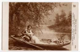 """COUPLES E. DEULLY """"EXQUISITE HOUR"""" SALON DE PARIS AN PARIS Nr. 4931 OLD POSTCARD - Couples"""