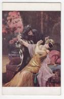 """COUPLES D. ETCHEVERRY """"UNDER THE MASK"""" AN PARIS Nr. 42 OLD POSTCARD - Couples"""