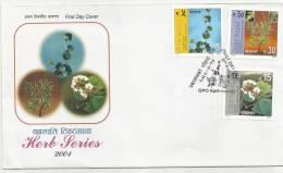 2001 NEPAL HERB SERIES MEDICAL MEDICINAL PLANTS HEALTH FDC WITH LEAFLET. - Medizin