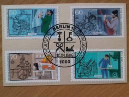 BERLIN MiNr 780/783 Kompletter Satz Mit Ersttagsstempel First Day Of Issue Stamp 10.4.1986 - Berlin (West)