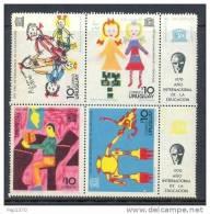 URUGUAY 1970 - AÑO INTERNACIONAL DE LA EDUCACION - Yvert Nº 795-798 - UNESCO
