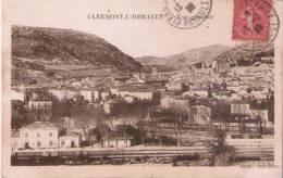 CLERMONT L'HERAULT VUE GENERALE (GARE ET WAGONS RESERVOIRS PETIT PLAN)  1930 - Clermont L'Hérault