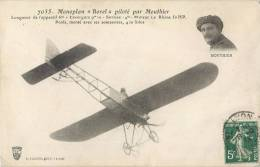 """MONOPLAN """" BOREL """" PILOTE PAR L'AVIATEUR MOUTHIER AVIATION - ....-1914: Precursors"""