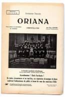 Partition - Répertoire S.A.C.E.M. - Oriana De Eugène Hansen - Partitions Musicales Anciennes