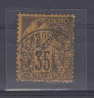 St Pierre Et Miquelon Yvert Nr 27 A , Used. Cat Value Maury  € 925, Surcharge Renversée - St.Pierre & Miquelon