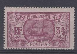 St Pierre Et Miquelon Yvert Nr 131 , MH/*. Cat Value Maury  € 24 - St.Pierre & Miquelon