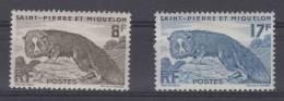 St Pierre Et Miquelon Yvert   Nr 345-346 , MH/*  Cat Value Maury  € 14 - St.Pierre & Miquelon