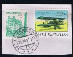 Tschechische Republik 1996, Michel #   O Auf Briefstück - Gebraucht