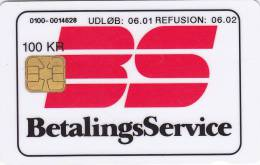 Denmark, DD 188d, Betalingsservice, 19855 Issued, 2 Scans.   06.01  Round ø - Danemark
