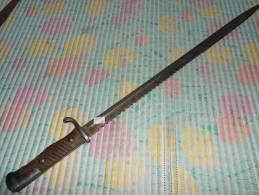 1898 DENT DE SCIE  WW1 PRUSSE 1 PLAQUETTE - Knives/Swords