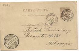 MONTE CARLO Pte DE MONACO Sur Entier Pour L' Allemagne, 9 Mai 1895.