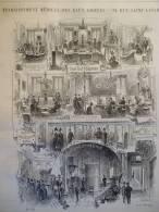 Paris , 94 Rue Saint Lazare , établissement Médical Des Eaux Azotées , Gravure De 1888 - Documents Historiques