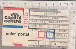 PO6635B# BIGLIETTO CONCERTO JETHRO TULL 1978 - Biglietti Per Concerti