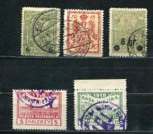 Poland 1915-9 Accumulation Used Overprint - ....-1919 Gouvernement Provisoire
