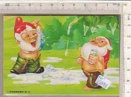 PO6689B# PUZZLE KINDER FERRERO 1991 - NANI AL BAGNO ESTERNO CON CARTINA - Puzzles