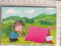 PO6695B# PUZZLE KINDER FERRERO 1993 - PEANUTS - LINUS AL CAMPEGGIO CON CARTINA - Puzzles