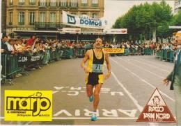 ALBI - Championnat De France De Marathon Le 16 Septembre 1984 - Arrivée Du Vainqueur D. Duhamel - Atletiek