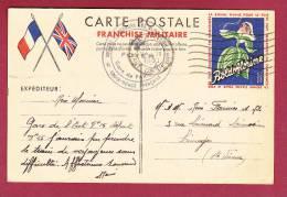 FM - 39/45 -  031212 -  CARTE POSTALE F.M. - BOLDOFLORINE -  Croix Rouge Gare PARIS  EST - 1940 - Cartes De Franchise Militaire