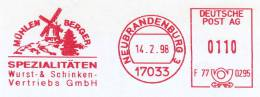 Freistempel 1818 MÜhlen Berger - Affrancature Meccaniche Rosse (EMA)