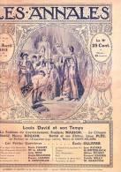 LES ANNALES N°1556 Du 20/04/1913. Peintre Louis DAVID. Francis Jammes. Aéroplanes: Gobé, Moineau, Labouchère, Perreyon.. - Journaux - Quotidiens