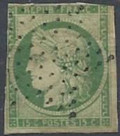 1849 FRANCIA USATO CERERE 15 CENT - FR627 - 1849-1850 Cérès