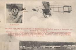 GRANDE SEMAINE D'AVIATION DE BORDEAUX-MERIGNAC BIPLAN FARMAN AVIATEUR MARTINET 1910 - Meetings