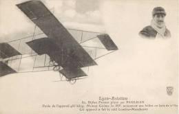 LYON-AVIATION L'AVIATEUR PAULHAN BIPLAN FARMAN MEETING BRON - Airmen, Fliers