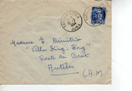 Enveloppe Partie De TAVAUX CITES JURA En 1954  (scan Recto Et Verso) - 1921-1960: Periodo Moderno