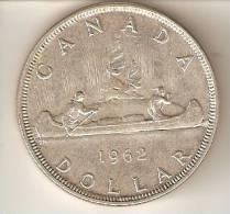 MONEDA DE PLATA DE CANADA DE 1 DOLLAR DEL AÑO 1962   (COIN) SILVER,ARGENT. - Canada