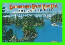 LIVRES - GANANOQUE, ONTARIO - GANANOQUE BOAT LINE LTD, 1000 ISLAND TOURS - 20 PAGES - - Exploration/Travel