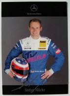 Carte Photo Automobile Publicitaire Dédicacée Stefan MUCKE - F1 2006 Mercedes-Benz   (dedicated Card) - Unclassified