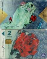 Telefonkarte Lettland - Rose - Paar - Akt - Latvia
