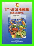 REVUE SOUVENIR DE LA (MÉDIÉVALES) 11ème FÊTE DES REMPARTS À QUÉBEC, SEPT. 1994, CANADA - 32 PAGES - - Livres, BD, Revues