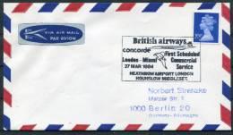 1984 GB London - Miami Concorde Flight Cover - Concorde