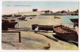 AFRICA EGYPT SUEZ MANUFACTURE OF BOATS OLD POSTCARD - Suez