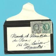 193+194 Op Naamkaartomslagje (carte-visite) Met Cirkelstempel VAL-ST-LAMBERT ▲  (VK) - 1922-1927 Houyoux