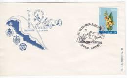 842. Yugoslavia, 1961, Auto Racing, Grand Prix, Cover - Briefe U. Dokumente