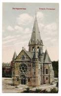Sarreguemines - Temple Protestant - Carte Colorisée - Dos Vierge - Sarreguemines
