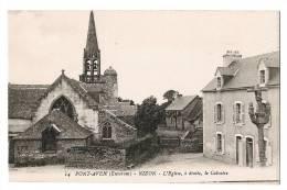 PONT AVEN - NIZON - L'Eglise - A Droite Le Calvaire - Carte Vierge+++ - Pont Aven