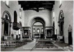 IMPRUNETA, INTERNO DELLA BASILICA, B/N, VG 1968, CHURCH    **//** - Firenze