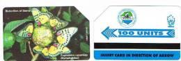 SIERRA LEONE  - SIERRATEL URMET -  FARFALLA ( BUTTERFLY): EUPHAEDRA CYPARISSA  (NYMPHALIDAE)  - USED - RIF. 846 - Sierra Leone
