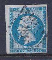 France, Scott # 15b Used Napoleon III, 1854 - 1853-1860 Napoleon III