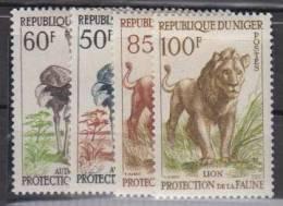 NIGER    1959    N°  105 / 108      COTE  14.50   EUROS        ( 1247 ) - Niger (1960-...)
