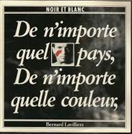 """45 Tours SP - BERNARD LAVILLIERS  - BARCLAY 885346  """" NOIR ET BLANC """" + 1 - Vinyl Records"""